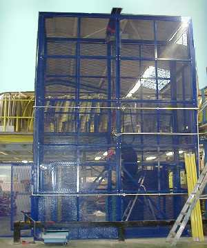 mezzanine floor goods lift